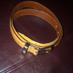 Dooney & Bourke Tan Ostrich Leather Belt
